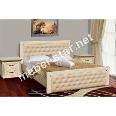 Двуспальная кровать из массива дуба Фридом