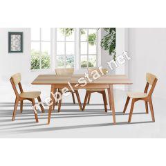 Обеденный раскладной стол Рондо ясень