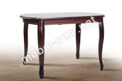 Обеденный раскладной стол Турин темный орех