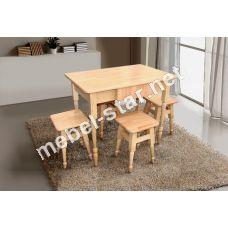 Кухонный комплект стол и стулья дерево