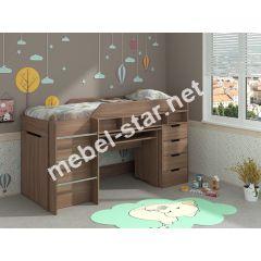Детская двухъярусная кровать чердак Легенда