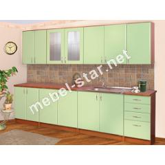 Кухня Мальвина длина 2,6 м МДФ