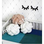 Декоративная подушка-узел ручной работы П1