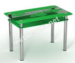 Стеклянный стол Салатовая Роза