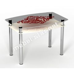 Стеклянный стол Барокко