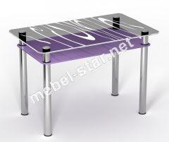 Стеклянный стол Сиреневый Бриз