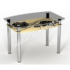Стеклянный стол Камелия
