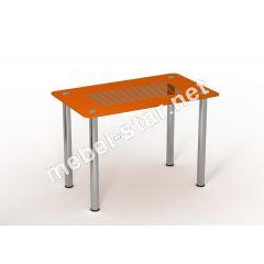 Стол стеклянный кухонный Параллель