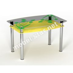 Стеклянный стол Тюльпаны