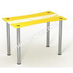 Стеклянный стол Солнечный луг
