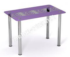 Стол стеклянный кухонный Виолетта
