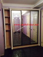 шкаф купе   с деревянными накладками 2900х2400х450/600 мм 4 дверные