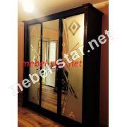шкаф купе с деревянными накладками 2100х450/600 мм