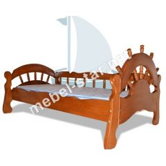 Детская и подростковая  кровать из дерева Бриз ясень