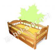 Детская  подростковая  кровать из дерева ясень Рио