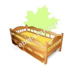 Детская  подростковая  кровать из дерева Рио ясень