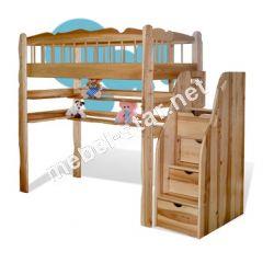 Двухъярусная кровать чердак  Капитошка