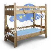 Деревянная двухъярусная кровать Врунгель ясень, дуб