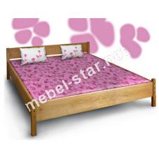 Двуспальная кровать Азалия массив дуба