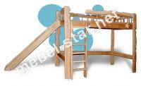 Детская кровать чердак Пеппи ясень