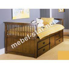 Подростковая кровать с ящиками Барни ясень