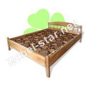 Двуспальная кровать из дерева Ассоль массив ясеня