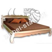 Двуспальная деревянная кровать Олеся массив ясеня