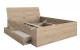 Односпальная, двуспальная кровать Гринвич