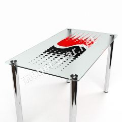 Стеклянный  стол для кухни Инь Янь