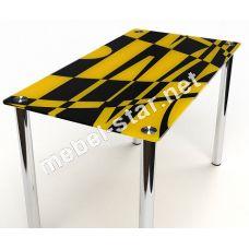 Стеклянный стол на кухню Абстракция