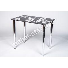 Стеклянный  стол на кухню Цветение
