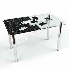 Стол стеклянный Пазл