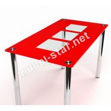 Стеклянный кухонный стол Малевич