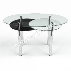 Круглый стеклянный стол Лагуна