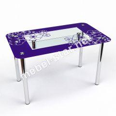 Стол стеклянный кухонный Маки С2