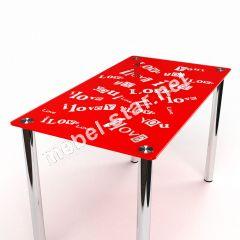 Стол обеденный стеклянный С любовью