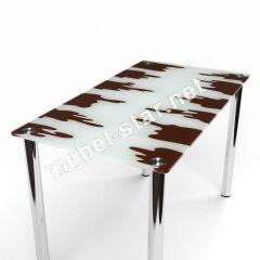Стеклянный  стол Шоколад