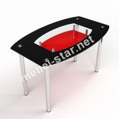 Стеклянный стол на кухню Бочка