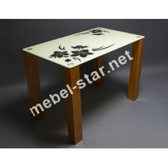 Стеклянный обеденный стол Магнолия