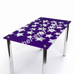 Стеклянный  стол Звезды