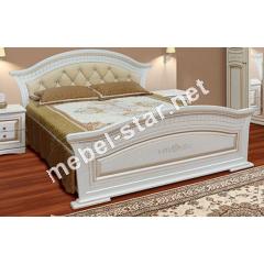 Двуспальная кровать с мягким изголовьем Николь