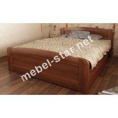 Односпальная, двуспальная кровать из массива дерева Лира 3