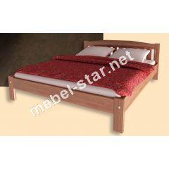 Односпальная, двуспальная кровать из дерева Вега1