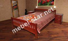 Одоспальная, двуспальная кровать из массива дерева  Верона
