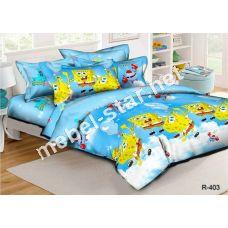 Комплект детского постельного белья  Губка Боб ранфорс