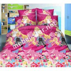 Комплект детского постельного белья  Мир Барби ранфор