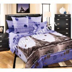 Комплект постельного белья Романтика Парижа, перкаль