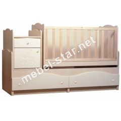 Детская кровать трансформер Мишка