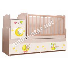 Детская кровать трансформер Зайки
