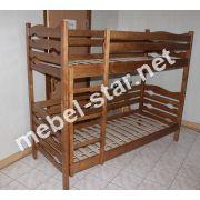 Двухъярусная кровать из  дерева Бэмби